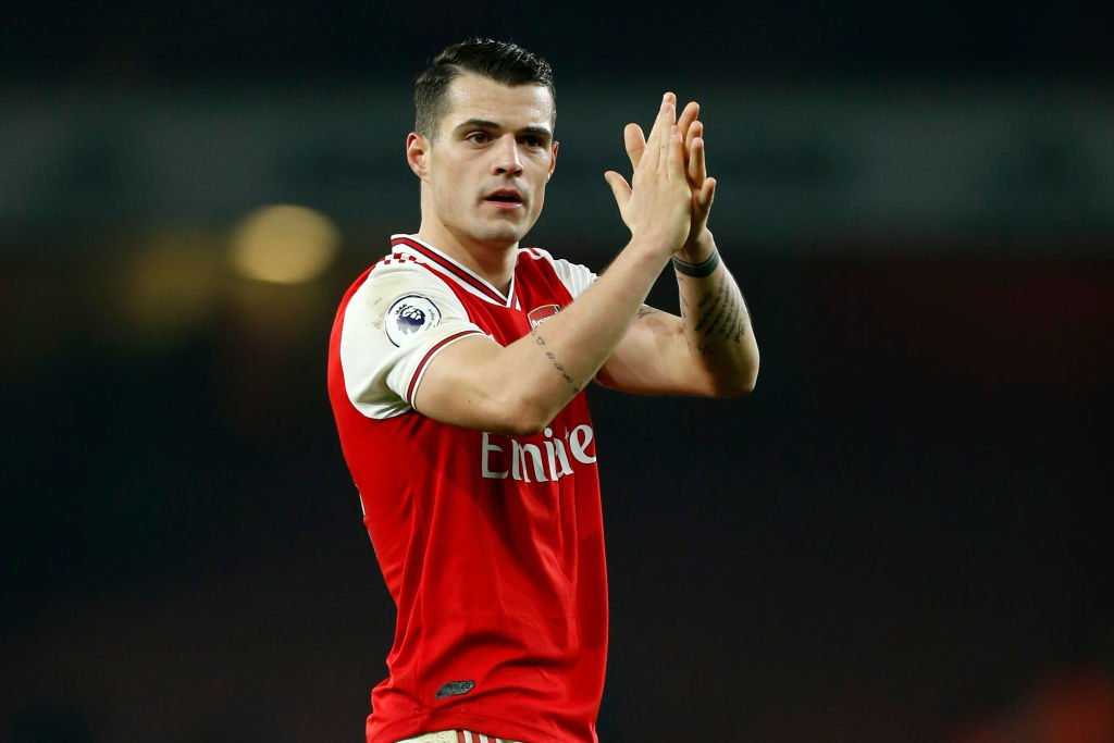 Granit Xhaka confirms his new Arsenal contract on Twitter.