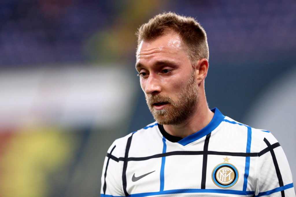 Christian Eriksen of FC Internazionale during The Serie A