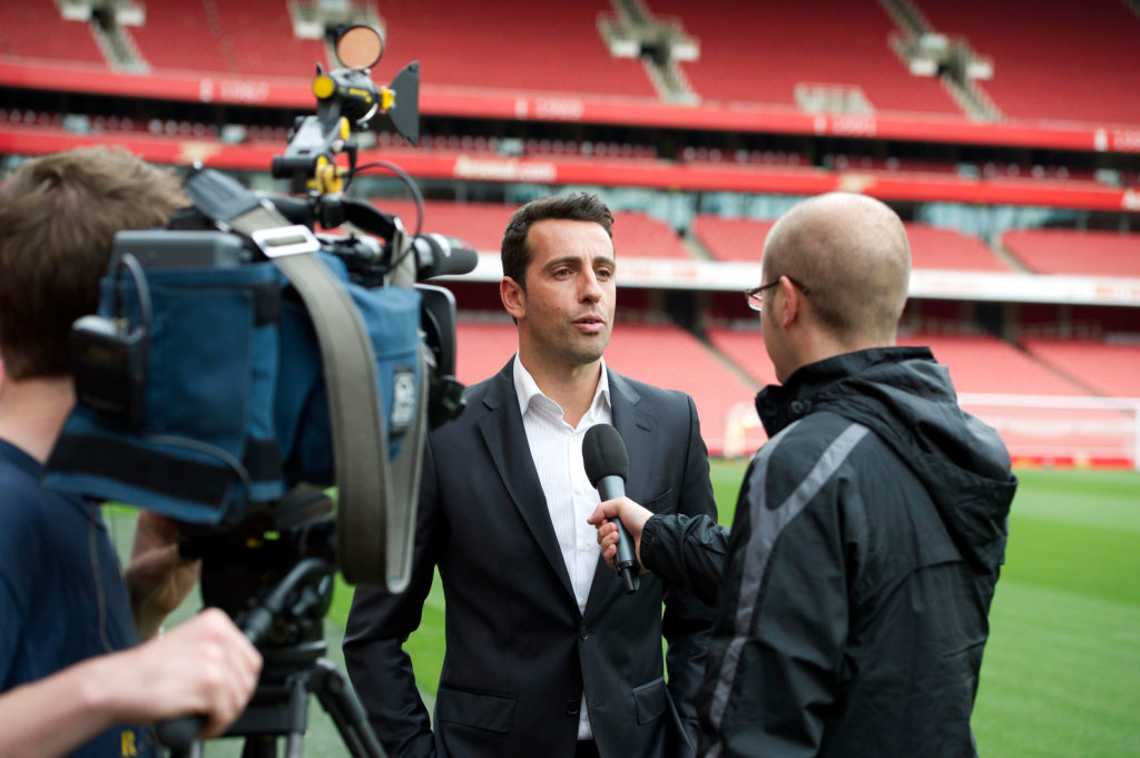 Former Arsenal player Edu Visits Emirates Stadium
