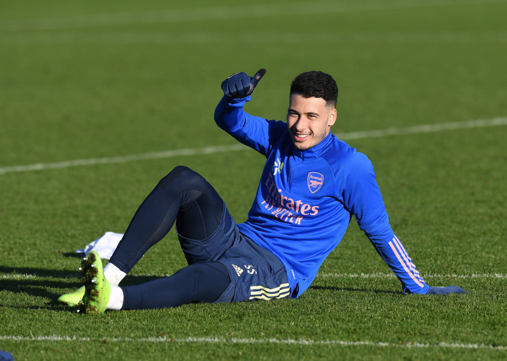 Gabriel Martinelli returns to Arsenal training two days after winning gold at the Olympics with Brazil