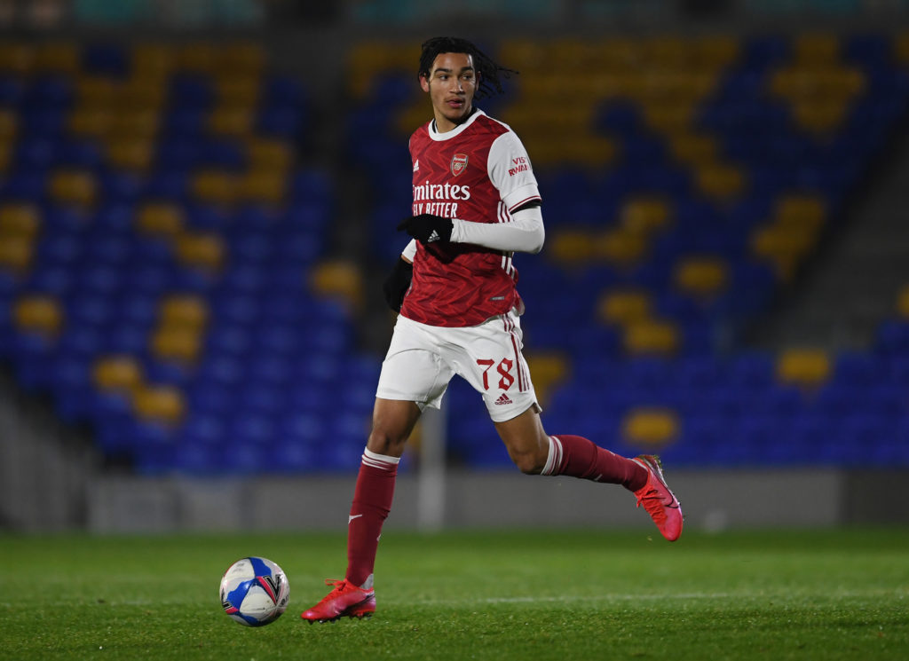 Arsenal wonderkid Kido Taylor-Hart responds to a fan's criticism on Twitter