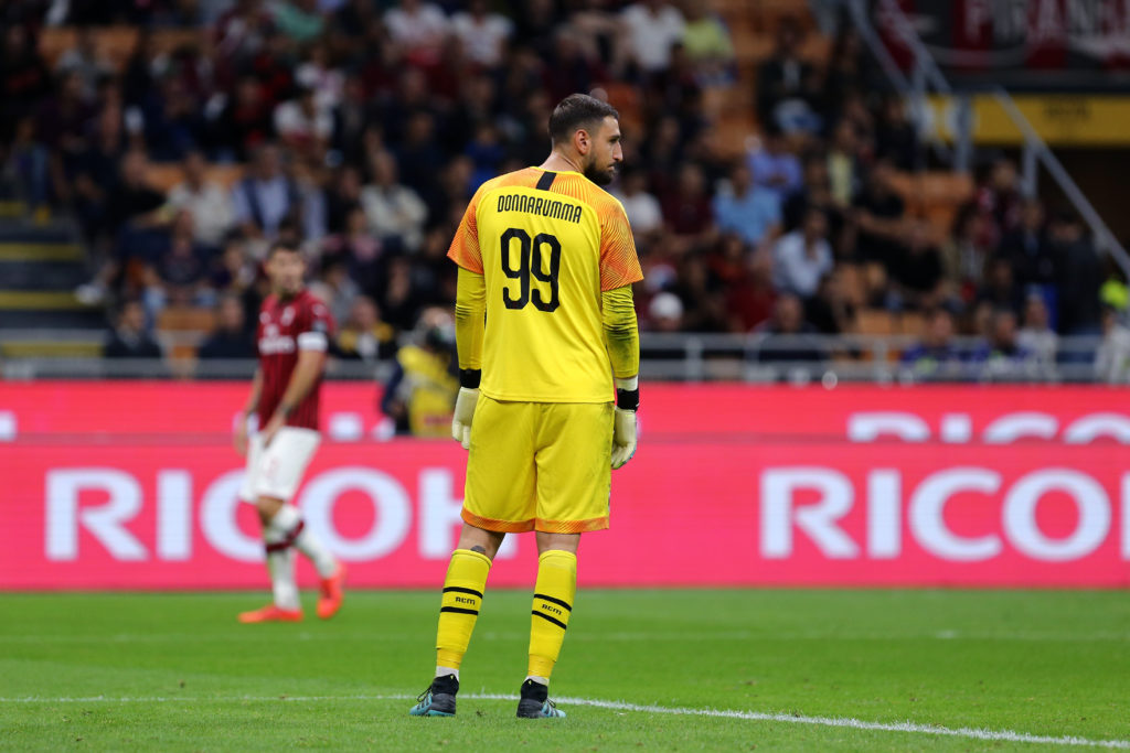 Gianluigi Donnarumma  of Ac Milan disappointed   during the