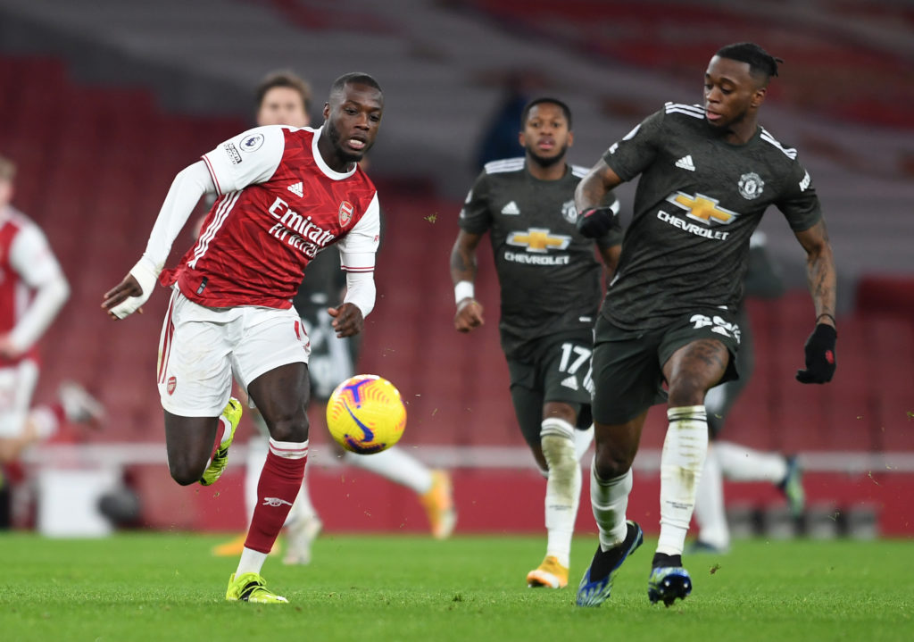Arsenal star Nicolas Pepe has named Manchester United defender Aaron Wan-Bissaka as the toughest player he has played against in the Premier League.